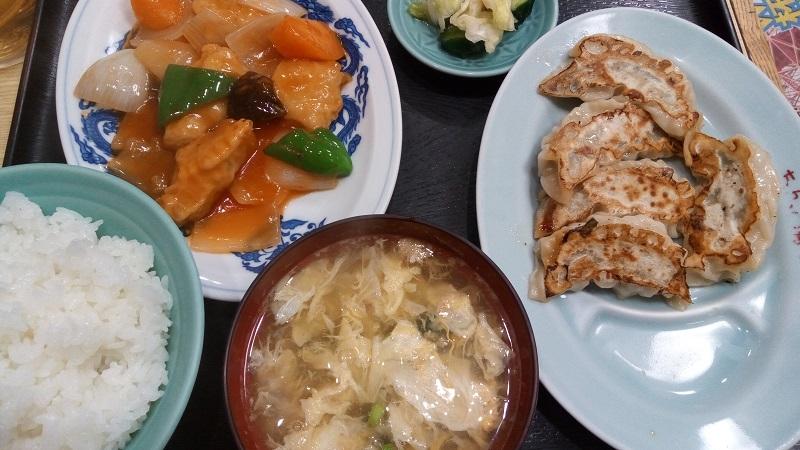 ちんちゃろの酢豚定食