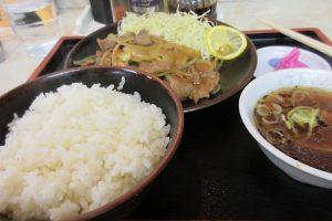 永楽沢口店の生姜焼き定食