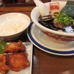 風風ラーメン 熊谷南口店のバリ黒豚骨ラーメンに唐揚げセット
