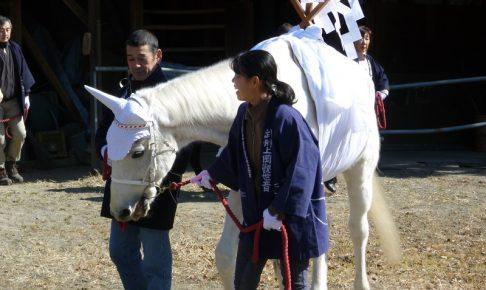 馬頭観音の絵馬市の様子1