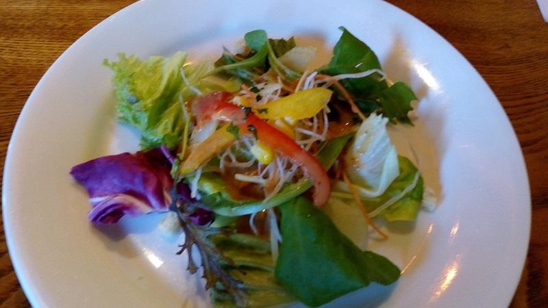 クランボン、ランチセットの野菜