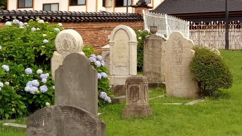 外国人墓地の雰囲気