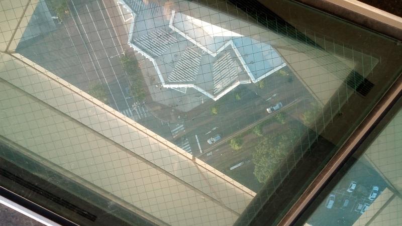 タワー恒例の下が見える窓