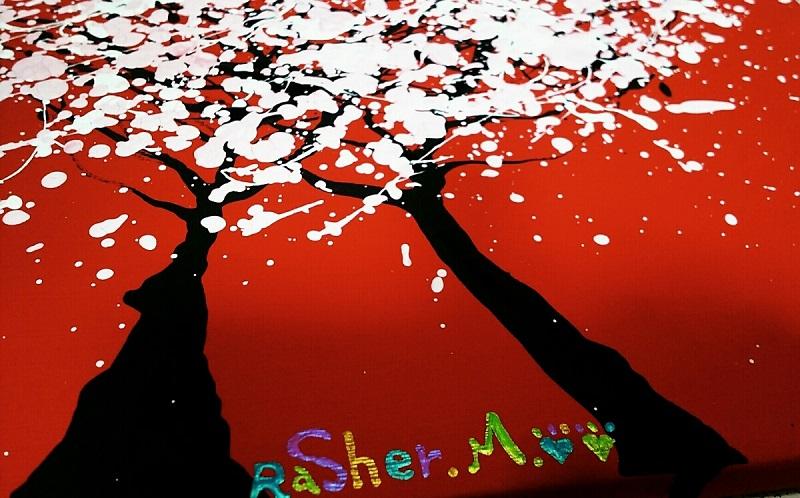 ラッシャーMの『愛の華』、下からアングル