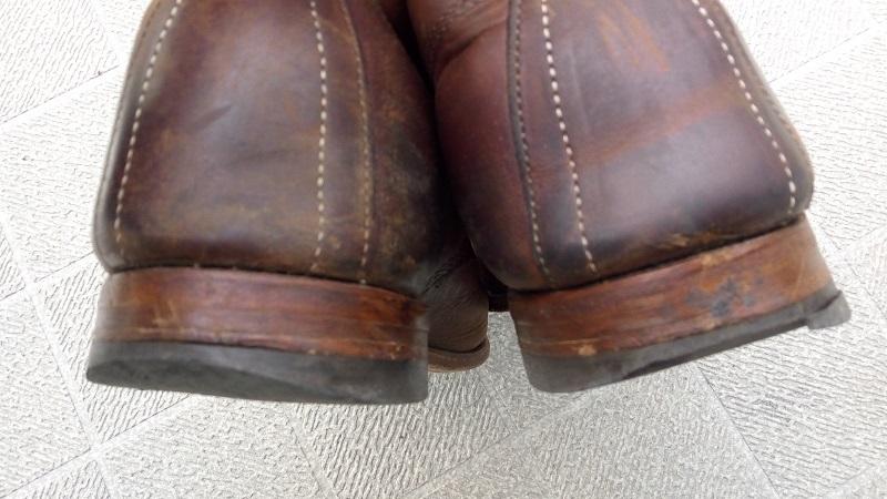 宇田川靴店に修理を依頼したウルヴァリンブーツ(修理前3)