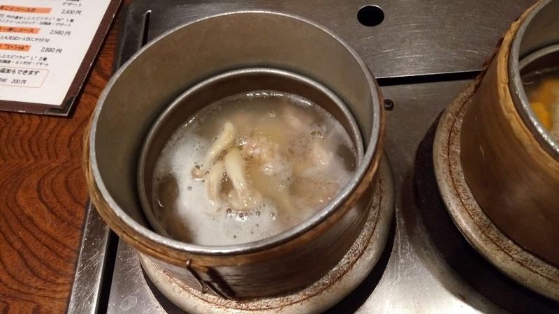 釜めし工房まこと熊谷店、釜飯が炊き上がる順番2