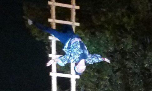 川越まつり(2018年)、鳶の梯子ハシゴ上り5