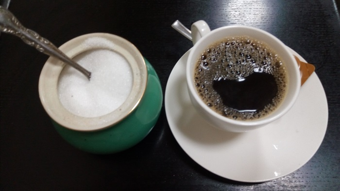味春屋、食後のコーヒー