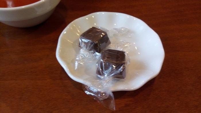 ギャラリー&カフェ 亜露麻、口直しのチョコレート