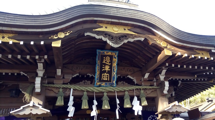 江ノ島神社本殿アップ