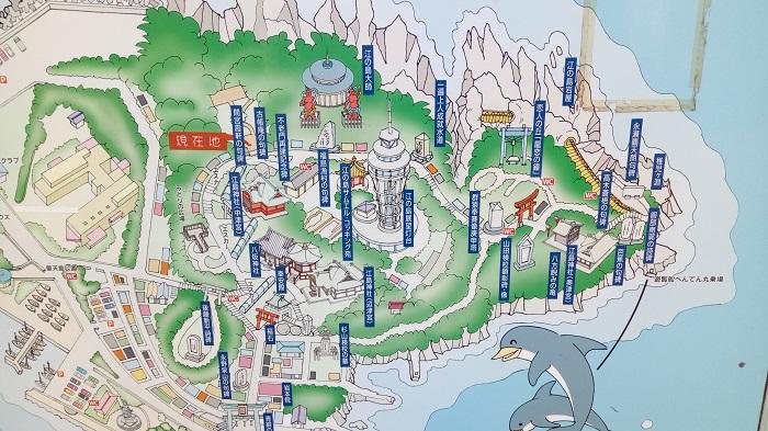 江ノ島神社周辺の案内図