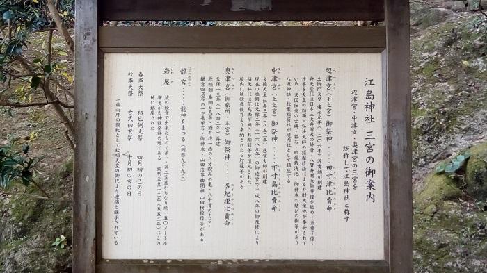 江ノ島神社、説明文