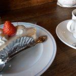 カフェ・ド・リッチのランチパスポートセット、ショートケーキとコーヒー