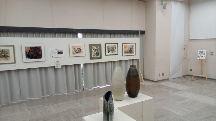 東松山美術展で飾られている作品(雰囲気)