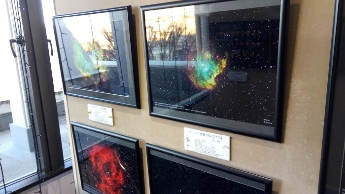 プラネタリウムの館内の写真