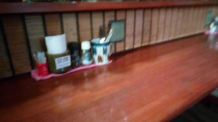 PREGOの店内のカウンター席