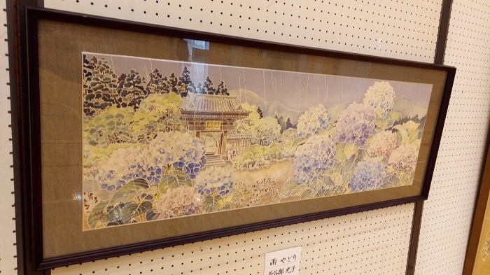 第24回平野文化祭の体育館にあった長谷部さんの作品
