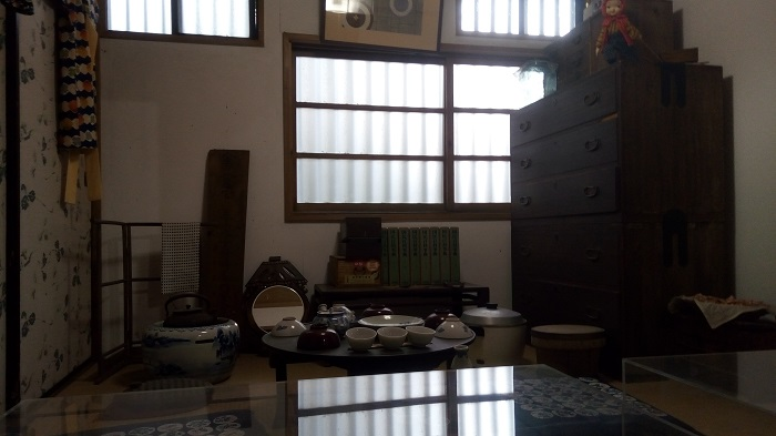 長島記念館の母屋の展示物(昭和の暮らし)