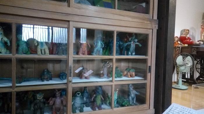 長島記念館の母屋の展示物(ウルトラマンシリーズ)