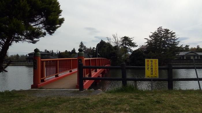 大沼公園にある弁天橋