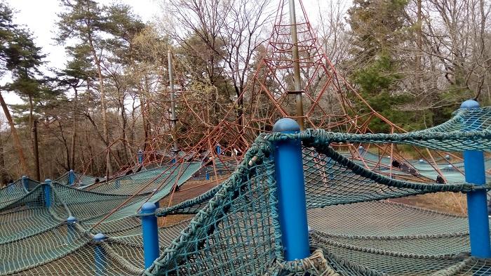 森林公園、冒険コースの様子3