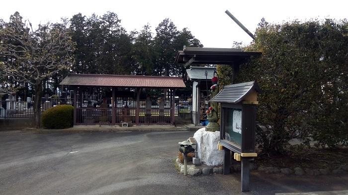 釈迦寺の境内