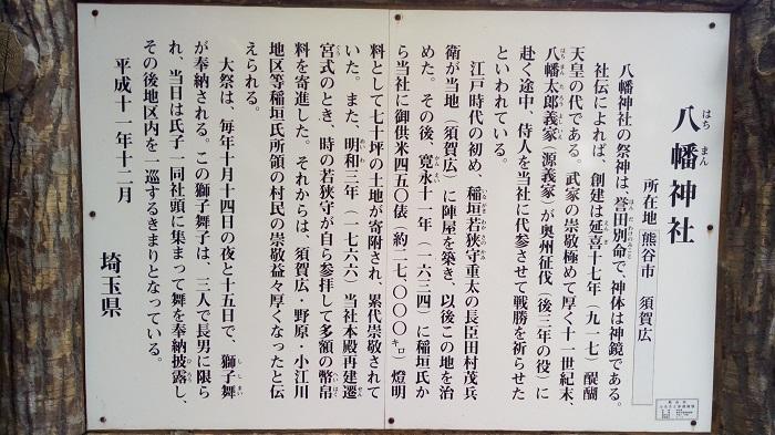 八幡神社の由来案内板