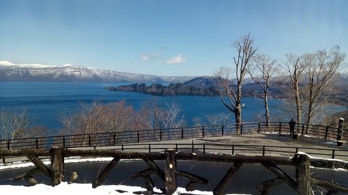 十和田湖の景観、発荷峠展望台から1