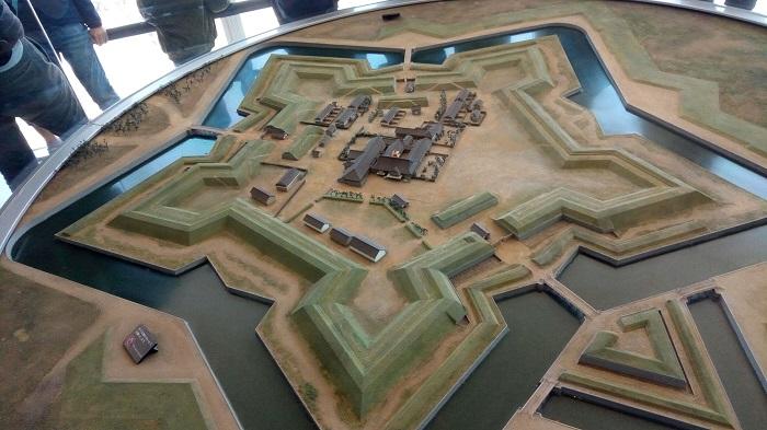 五稜郭タワーにあった模型