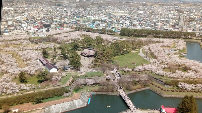 五稜郭タワーから見た五稜郭2