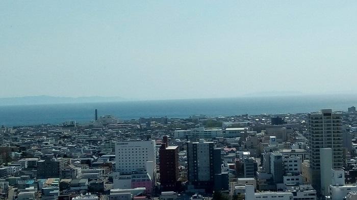 五稜郭タワーから見た津軽海峡