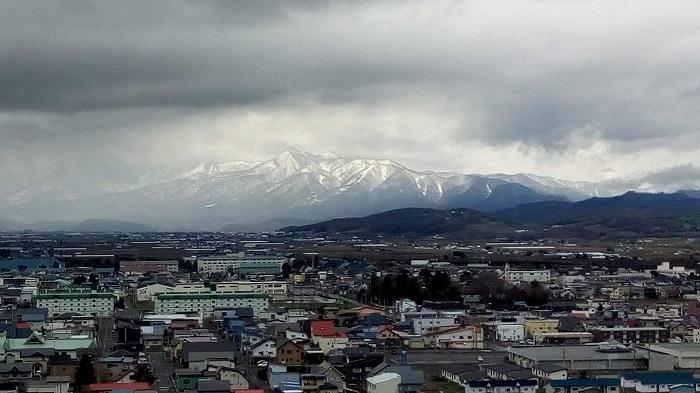 展望台から見た山