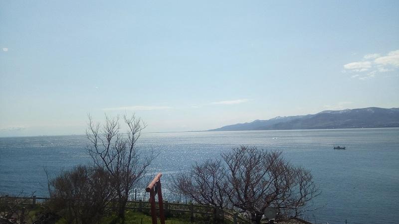 ニシン御殿から見た海