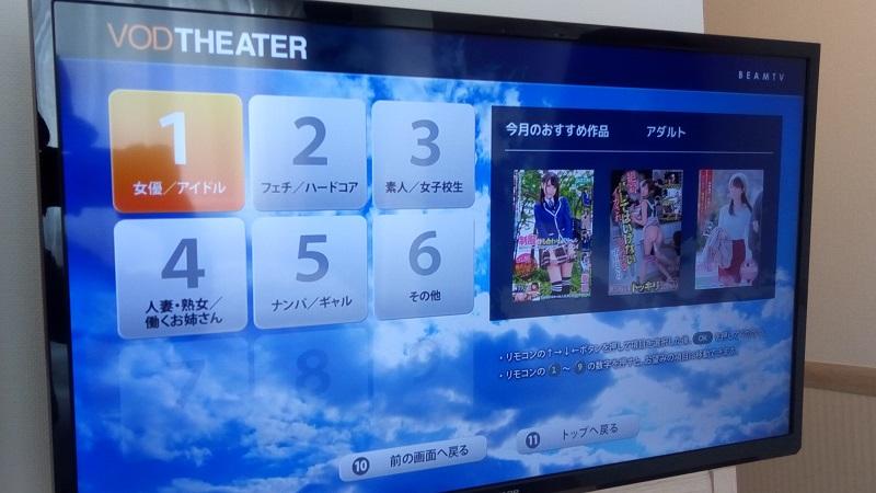 東横イン熊谷駅北口店、VODのメニュー、ほほう