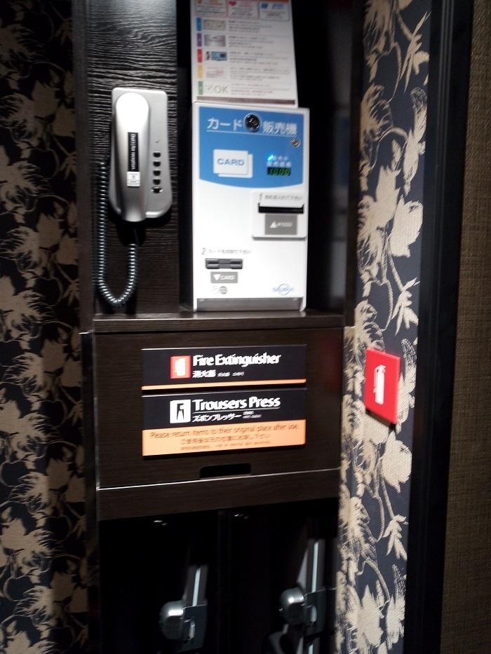 アパホテル、VOD販売機とズボンドレッサー