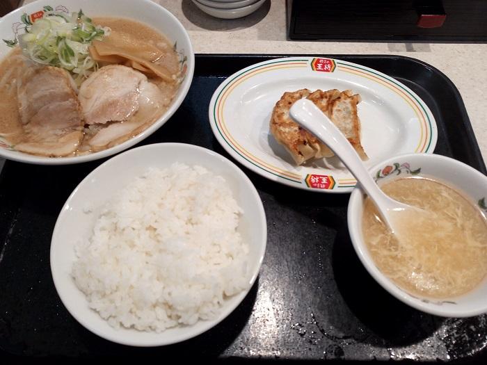 餃子の王将(熊谷店)で注文した料理