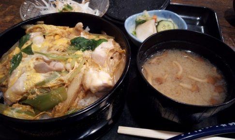 藪伊豆で食べた親子丼