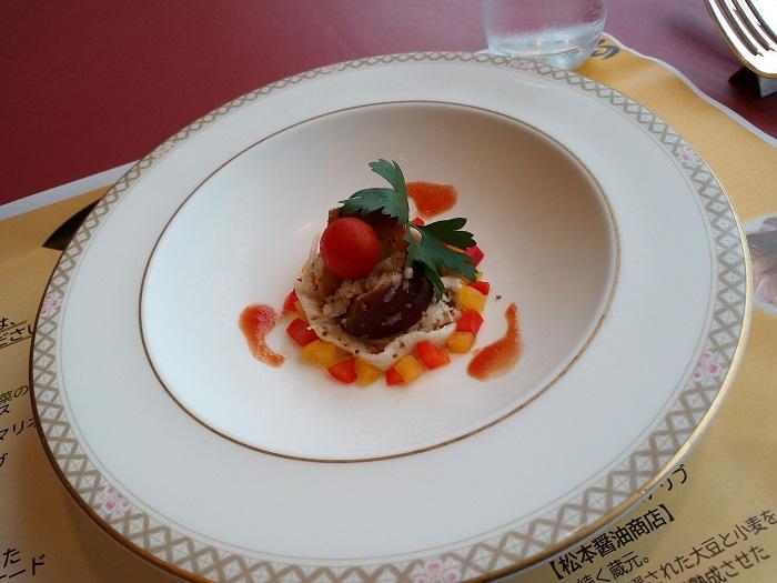 鶏肉・さつま芋・長葱のマリネ