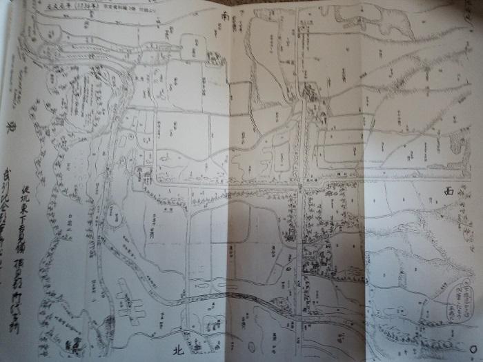 東松山の今昔あれこれに掲載をされていた1700年代の地図